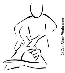 Massage auf Frau.