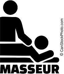 masseur, ikone