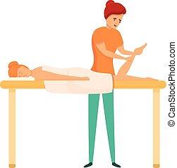 masseur, stil, ikone, osteopath, karikatur