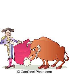 Matador und Stier