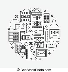 Mathe lineare Illustration.