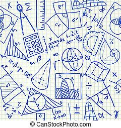 Mathematik-Doodles nahtlos