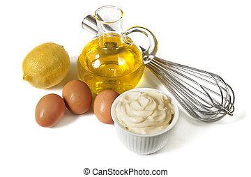 Mayonnaise-Zutaten.