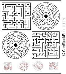 Maze Freizeitspiel mit Lösungen.