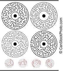 Maze Game Aktivitäten mit Lösungen.