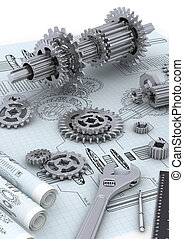 mechanisch, begriff, technik