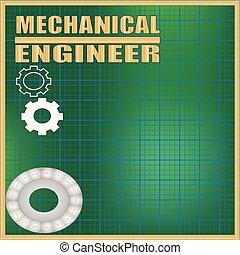 mechanisch, ingenieur, hintergrund
