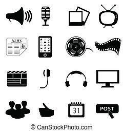 Medien oder Multimedia-Ikonen