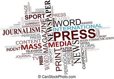 Medien- und Journalismus Tags Cloud