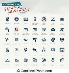 Medien- und Werbe-Icon-Set