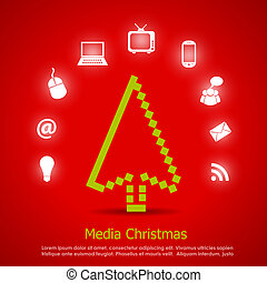 Medien-Weihnachtskarte