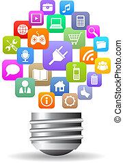 Medienlampen-Ikone.