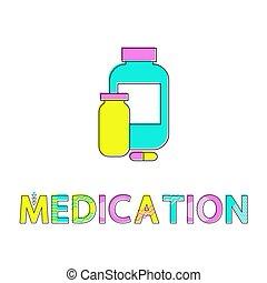 Medikamentenflaschen Poster Vektorgrafik