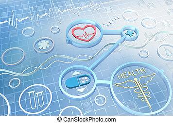 Medizin - abstrakter Hintergrund