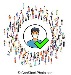 medizin, access., maske, leute, erlaubt, symbol
