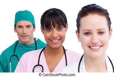 medizin, darstellung, mannschaft, multi-ethnisch