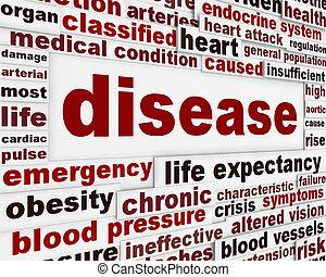 medizin, warnung, nachricht, hintergrund, krankheit