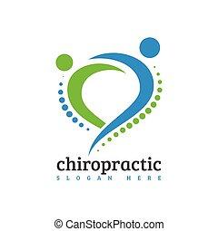 medizin, zurück, spinal, kreativ, massage, chiropraktik, logo, sorgfalt, design, begriff, schablone, rückgrat, schmerz, osteopathie, ikone