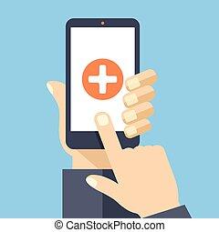 Medizinische App auf Smartphone-Bildschirm