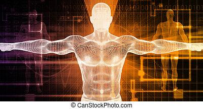 Medizinische Körpertechnologie.