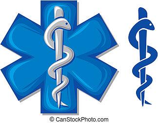 Medizinische Symbol-Kadusschlange