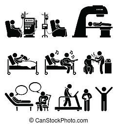 Medizinische Therapie.