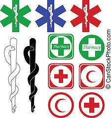 Medizinische und pharmazeutische Ikonen
