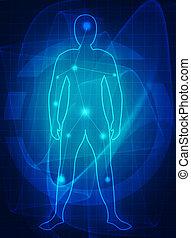 Medizinische Zukunft des menschlichen Körpers.