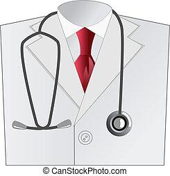 Medizinischer Arzt, weißer Mantel
