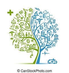 Medizinisches Baumkonzept für dein Design
