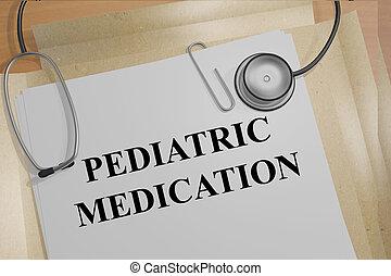 medizinisches konzept, medikation, pädiatrisch