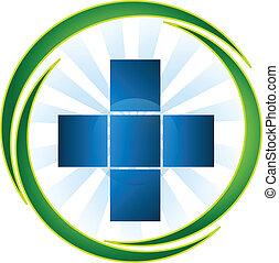 Medizinisches Symbol-Logo-Vektor.