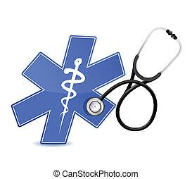 Medizinisches Symbol mit Stethoskop