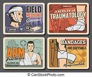 medizinprodukt, hilfe, zuerst, feld, kurse, traumatology