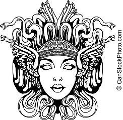 Medusa Gorgon Portrait.