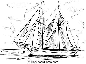 meer, schiff, segeln