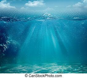 Meeres- und Ozean-Hintergrund für Ihr Design abschaffen