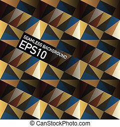 Meereslose geometrische Dreiecke abstrakter Hintergrund. Vector, EPS10