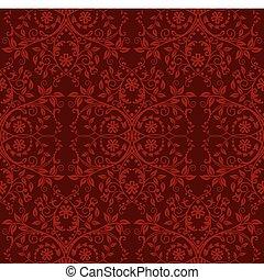 Meereslose rote Blumentapete