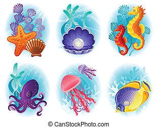 Meerestiere Ikonen