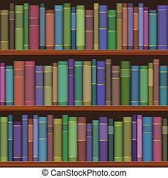 Meerlose Bibliotheksnägel mit alten Büchern
