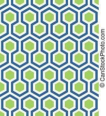Meerlose Hexagon in blaugrün