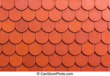 Meerloses orangenes Dach.