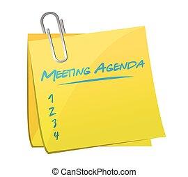 Meeting Agenda Memo Illustration Design.