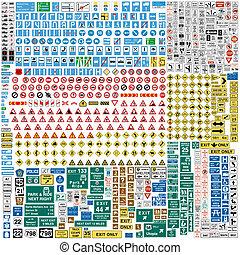 Mehr als 600 europäische Verkehrszeichen.