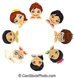 Mehr ethnische Gruppen von Kindern.