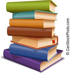 Mehrfarbige Bücher