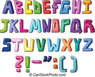 Mehrfarbige Briefe