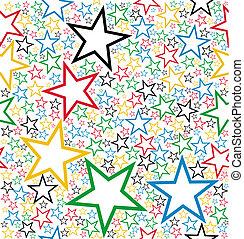 Mehrfarbige Sterne nahtlos