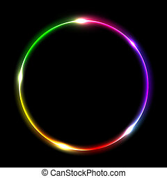 Mehrfarbiger Kreis abbrechen
